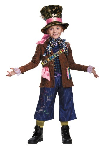 Click Here to buy Kids Mad Hatter Prestige Costume from HalloweenCostumes, USA Funds & Shipping