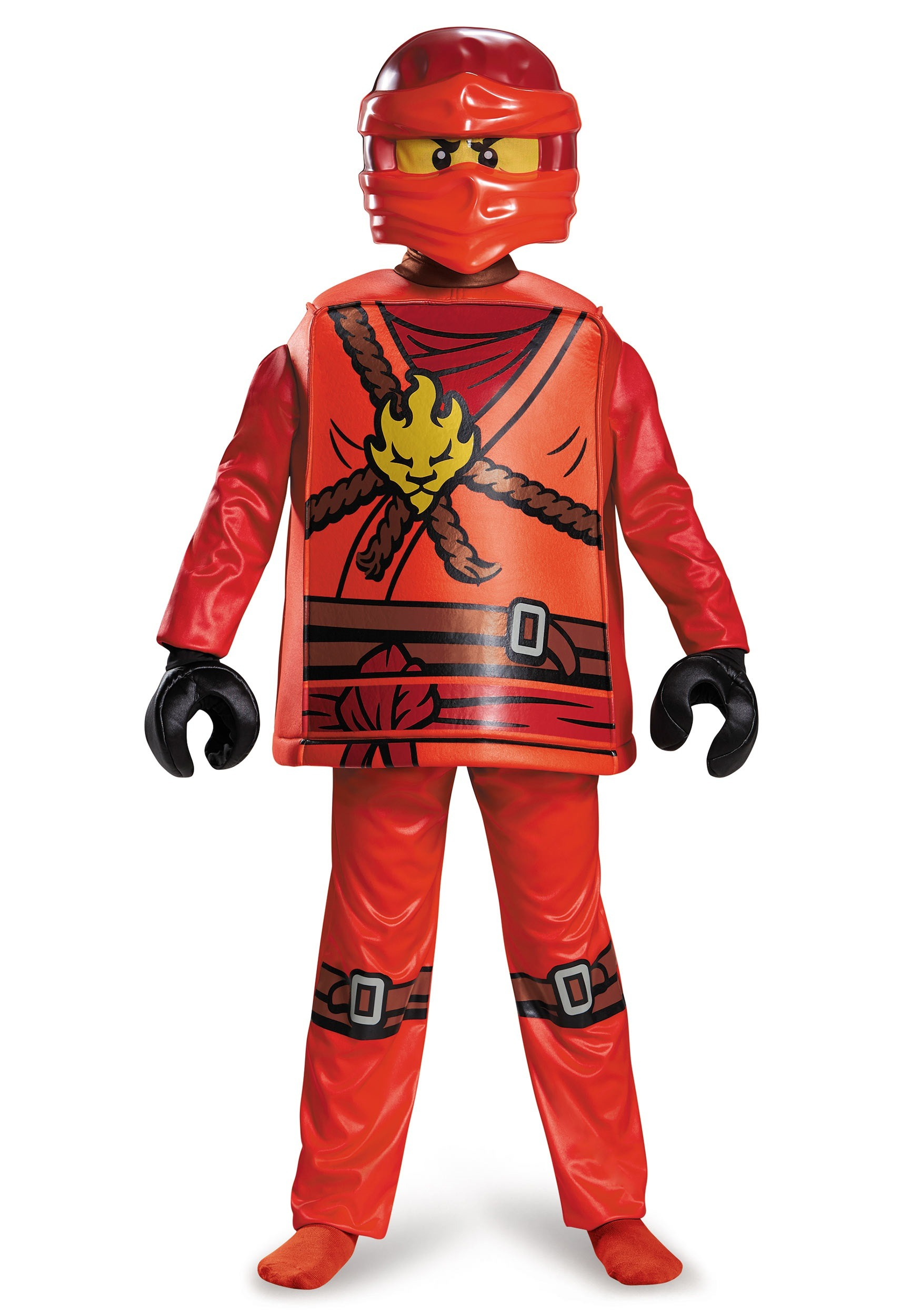 Deluxe Ninjago Kai Boys Costume  sc 1 st  Halloween Costumes : kids green ninja costume  - Germanpascual.Com