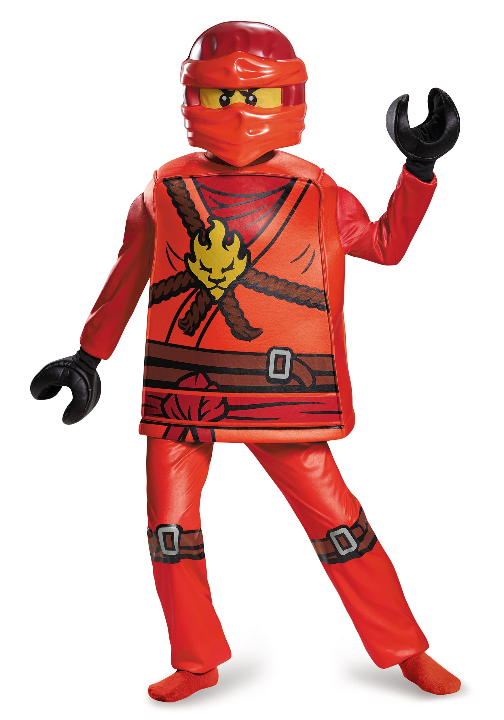 deluxe ninjago kai costume for boys. Black Bedroom Furniture Sets. Home Design Ideas