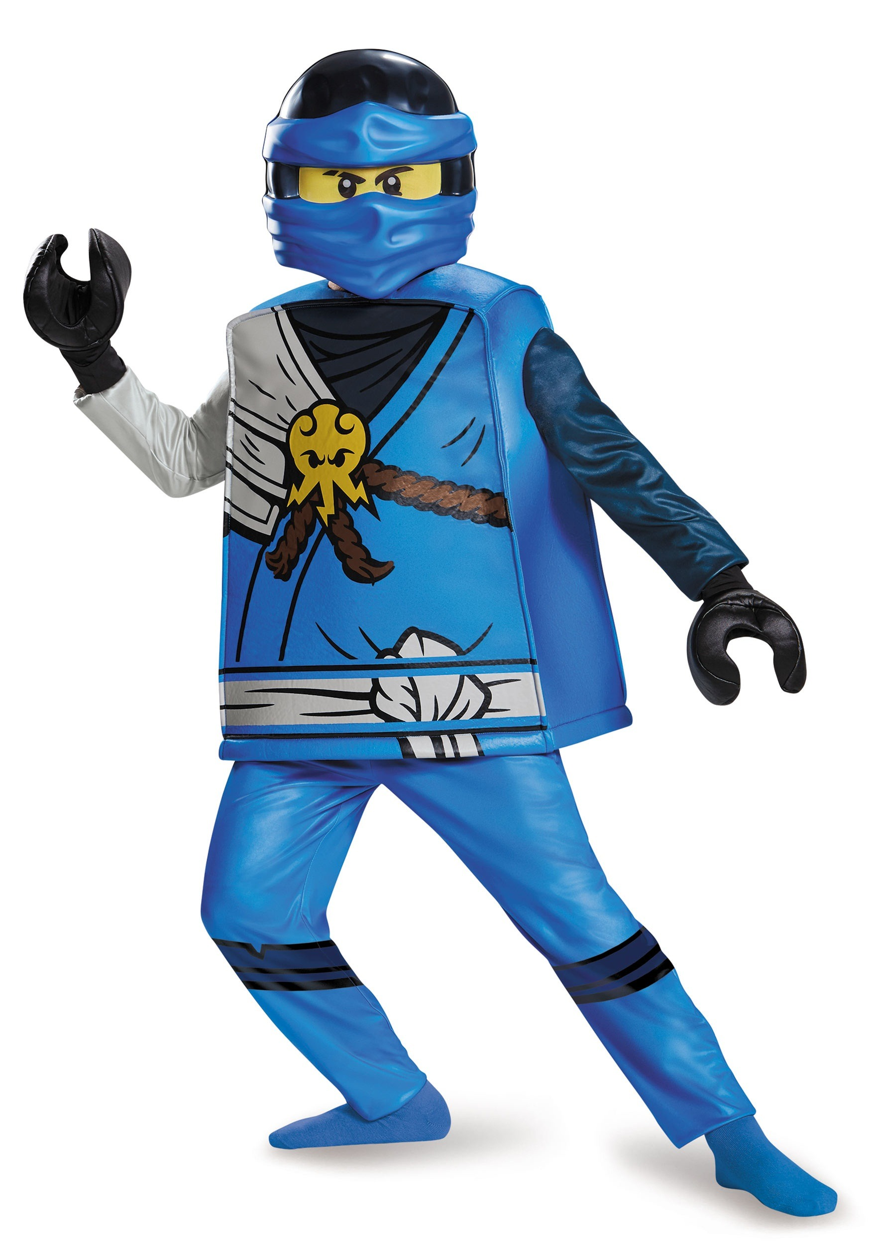 deluxe ninjago jay boys costume. Black Bedroom Furniture Sets. Home Design Ideas