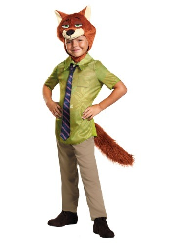 Cheap Zootopia Nick Wilde Boys Costume 2017