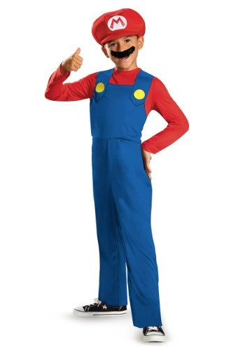 Click Here to buy Boys Mario Classic Costume from HalloweenCostumes, USA Funds & Shipping
