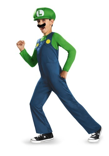 Click Here to buy Boys Luigi Classic Costume from HalloweenCostumes, USA Funds & Shipping