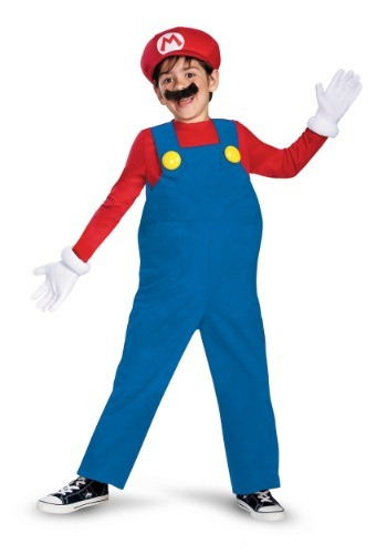 Click Here to buy Boys Deluxe Mario Costume from HalloweenCostumes, USA Funds & Shipping