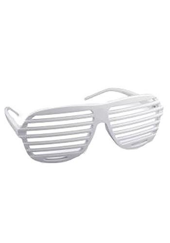 White 80s Glasses