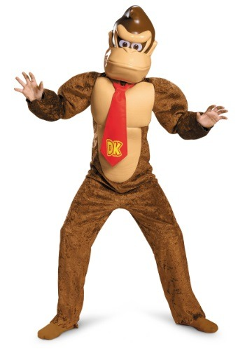 Click Here to buy Kids Deluxe Donkey Kong Costume from HalloweenCostumes, USA Funds & Shipping