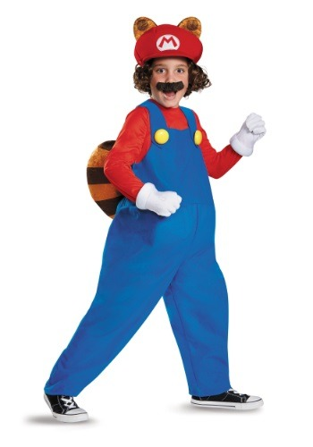 Click Here to buy Kids Deluxe Mario Raccoon Costume from HalloweenCostumes, USA Funds & Shipping