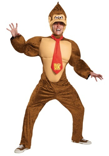 Click Here to buy Plus Size Adult Deluxe Donkey Kong Costume 2X from HalloweenCostumes, CDN Funds