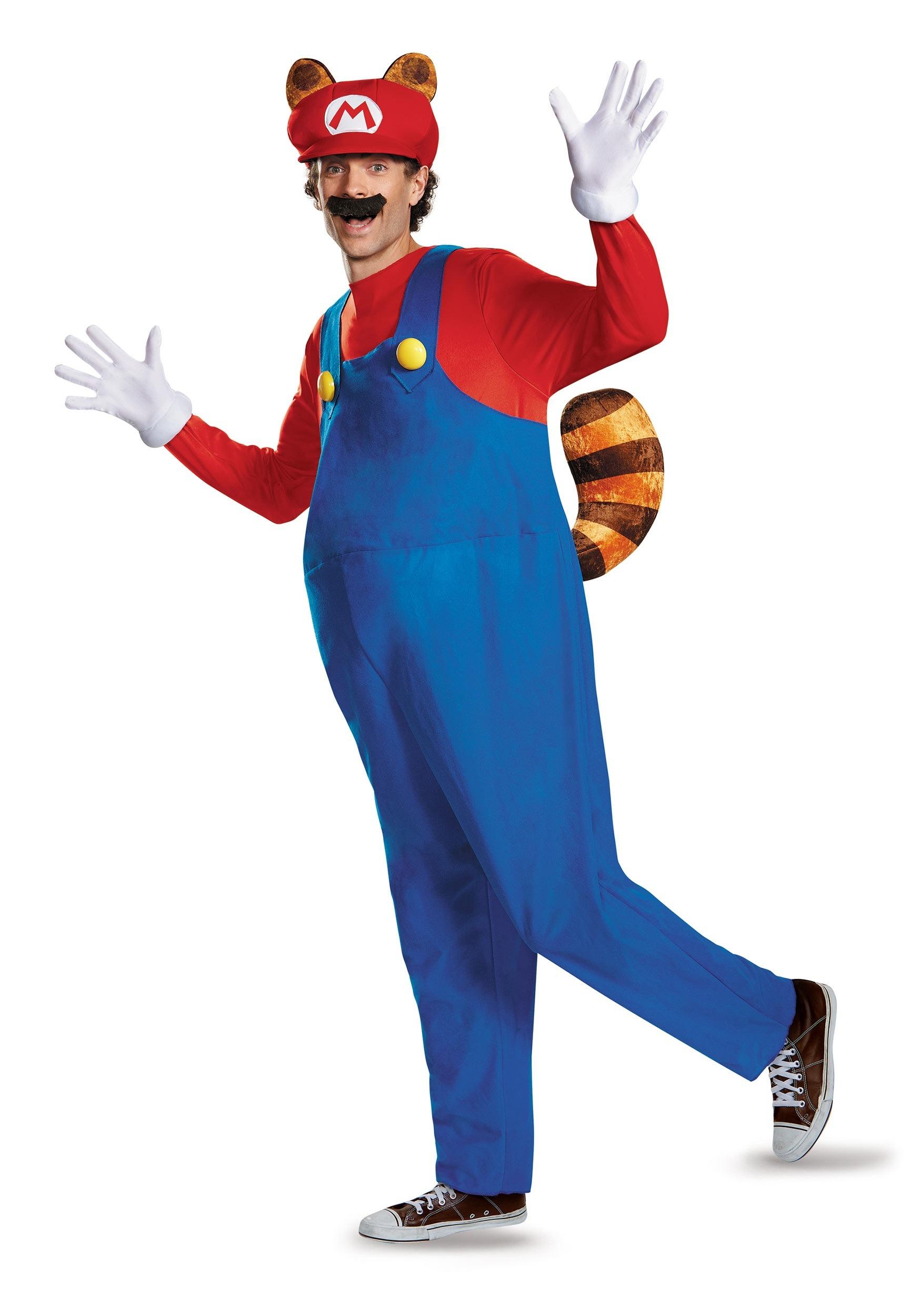 Plus Size Adult Deluxe Mario Raccoon Costume  sc 1 st  Halloween Costumes & Super Mario Bros. Costumes - HalloweenCostumes.com