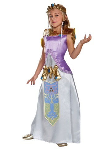 Click Here to buy Kids Deluxe Zelda Costume from HalloweenCostumes, USA Funds & Shipping
