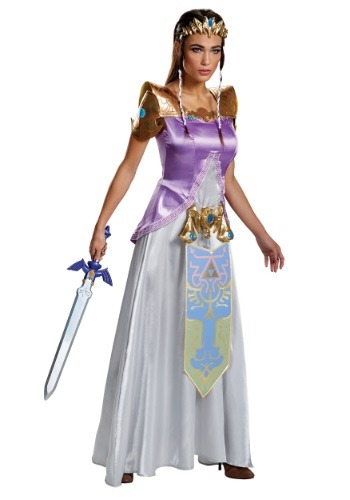 Click Here to buy Adult Zelda Deluxe Costume from HalloweenCostumes, USA Funds & Shipping