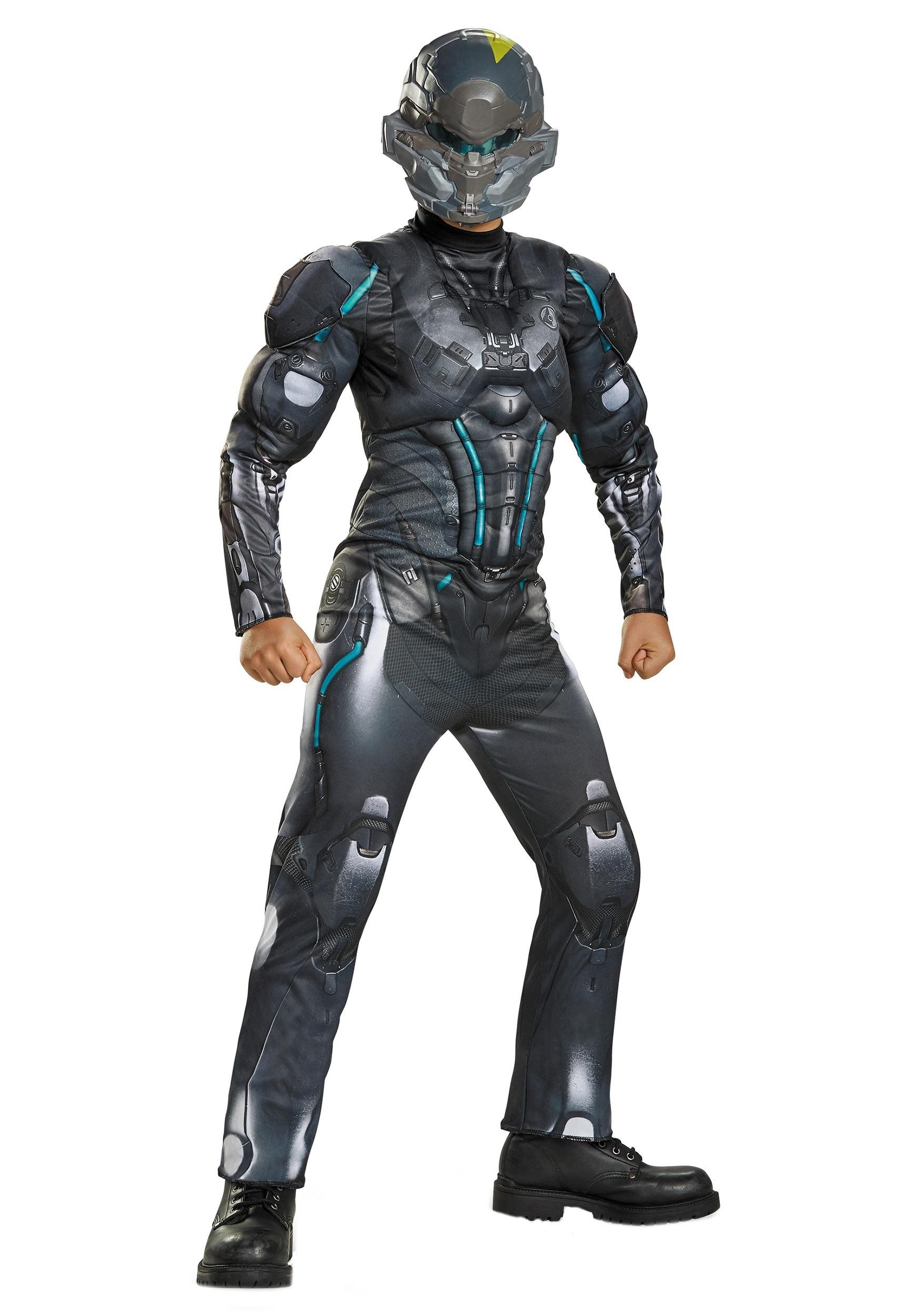 Child Halo Spartan Locke Muscle Chest Costume