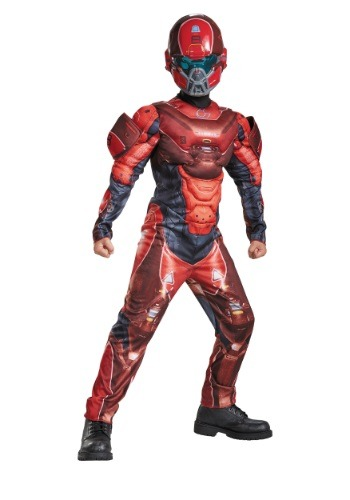 Click Here to buy Kids Halo Red Spartan Muscle Chest Costume from HalloweenCostumes, USA Funds & Shipping