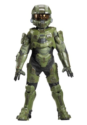 Click Here to buy Kids Master Chief Ultra Prestige Costume from HalloweenCostumes, USA Funds & Shipping