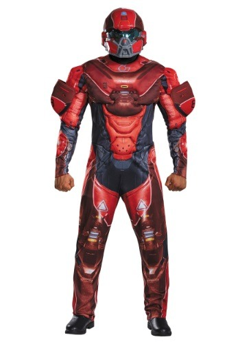Click Here to buy Adult Red Spartan Muscle Chest Costume from HalloweenCostumes, USA Funds & Shipping