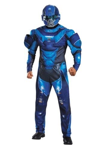 Click Here to buy Adult Blue Spartan Muscle Chest Costume from HalloweenCostumes, USA Funds & Shipping