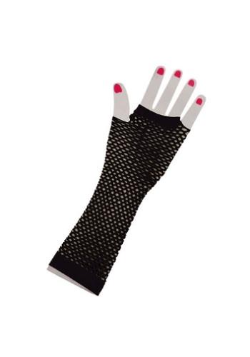 Black Fishnet Fingerless Gloves
