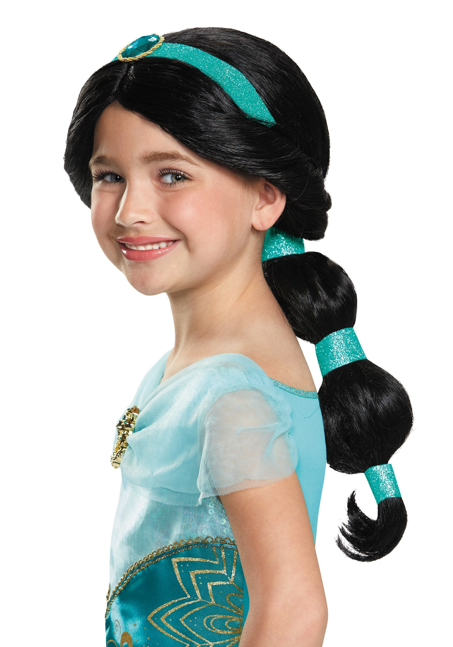 Child Jasmine Wig  sc 1 st  Halloween Costumes & Aladdin Costumes - Adult Kids Aladdin and Jasmine Costumes
