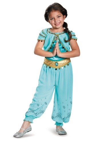 Click Here to buy Kids Jasmine Prestige Costume from HalloweenCostumes, USA Funds & Shipping