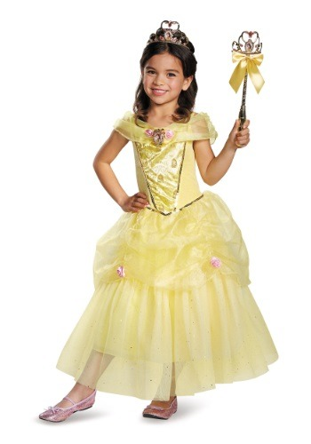 Click Here to buy Kids Belle Deluxe Costume from HalloweenCostumes, CDN Funds