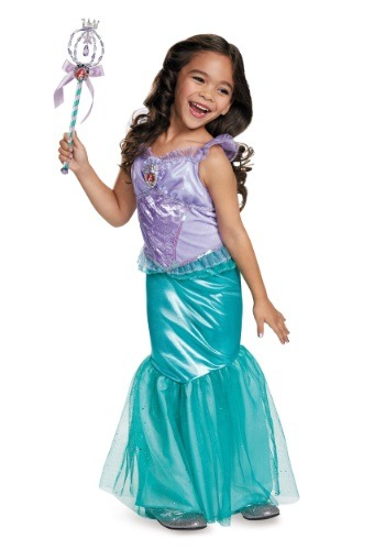 Click Here to buy Kids Deluxe Ariel Costume from HalloweenCostumes, CDN Funds