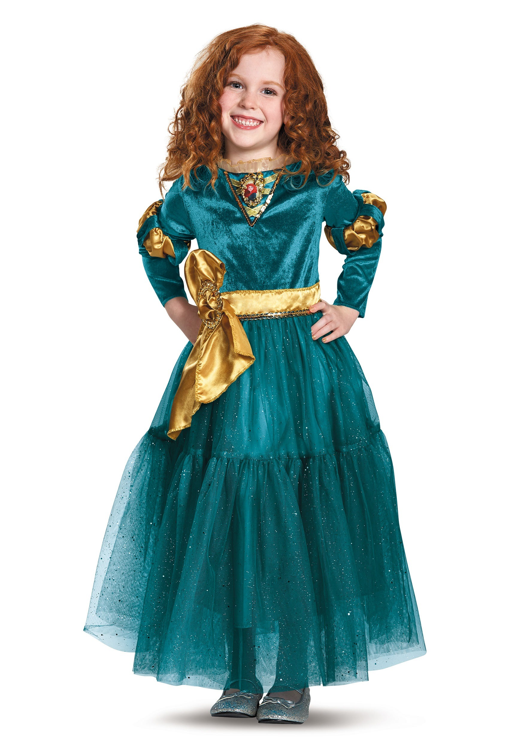 Merida Classic Child Girls Costume Disney Princess Brave Fancy Dress Halloween