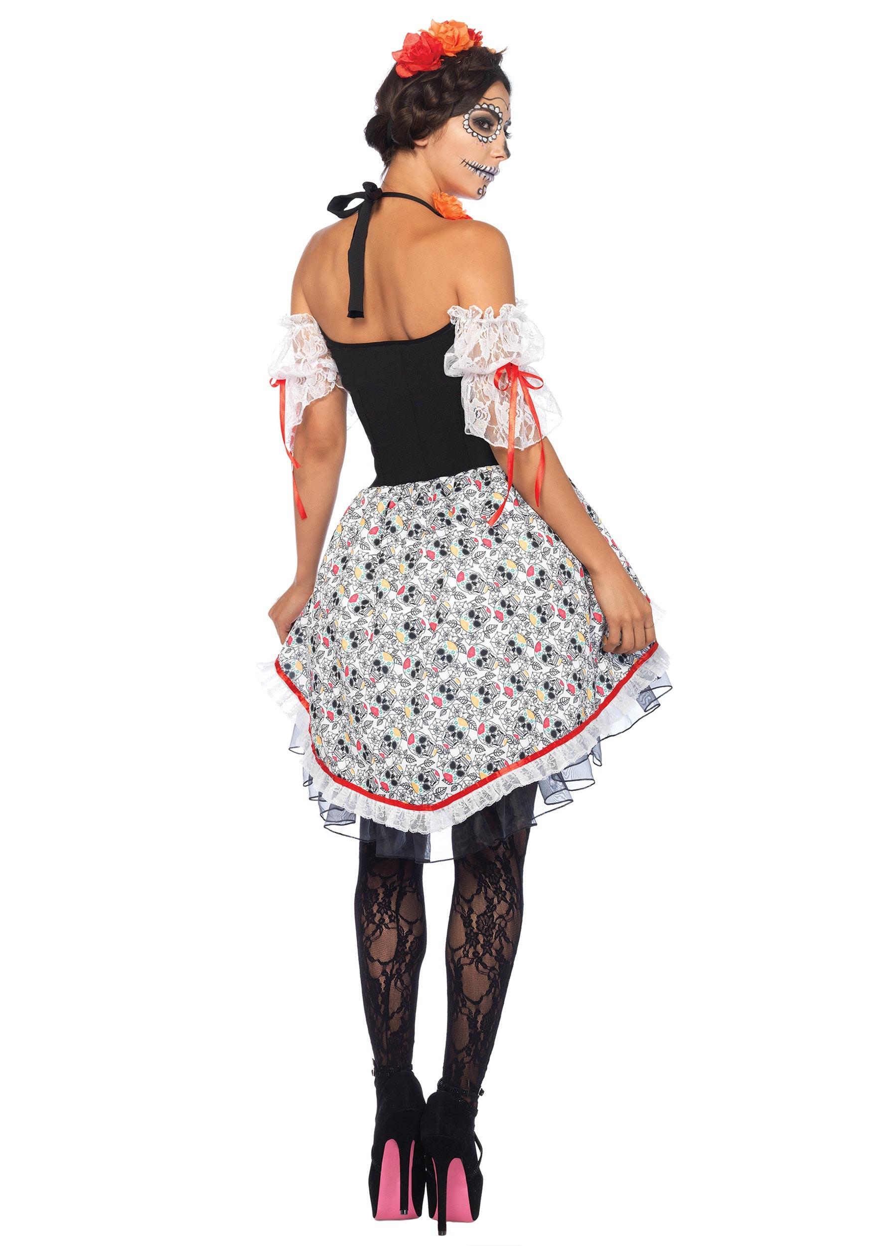 sugar skull halloween costume size women u0027s sugar skull senorita costume