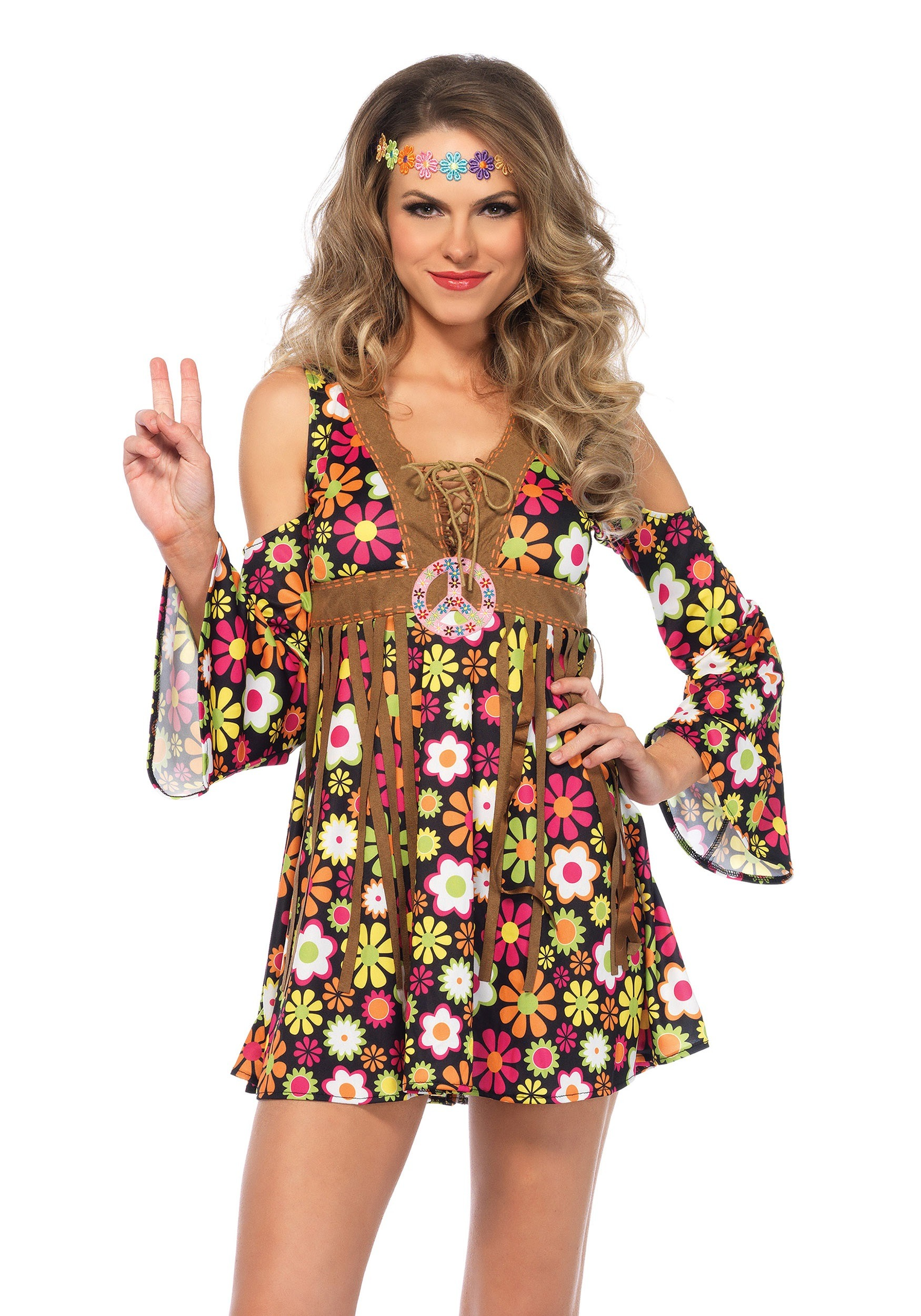 Women 39 S Starflower Hippie Costume
