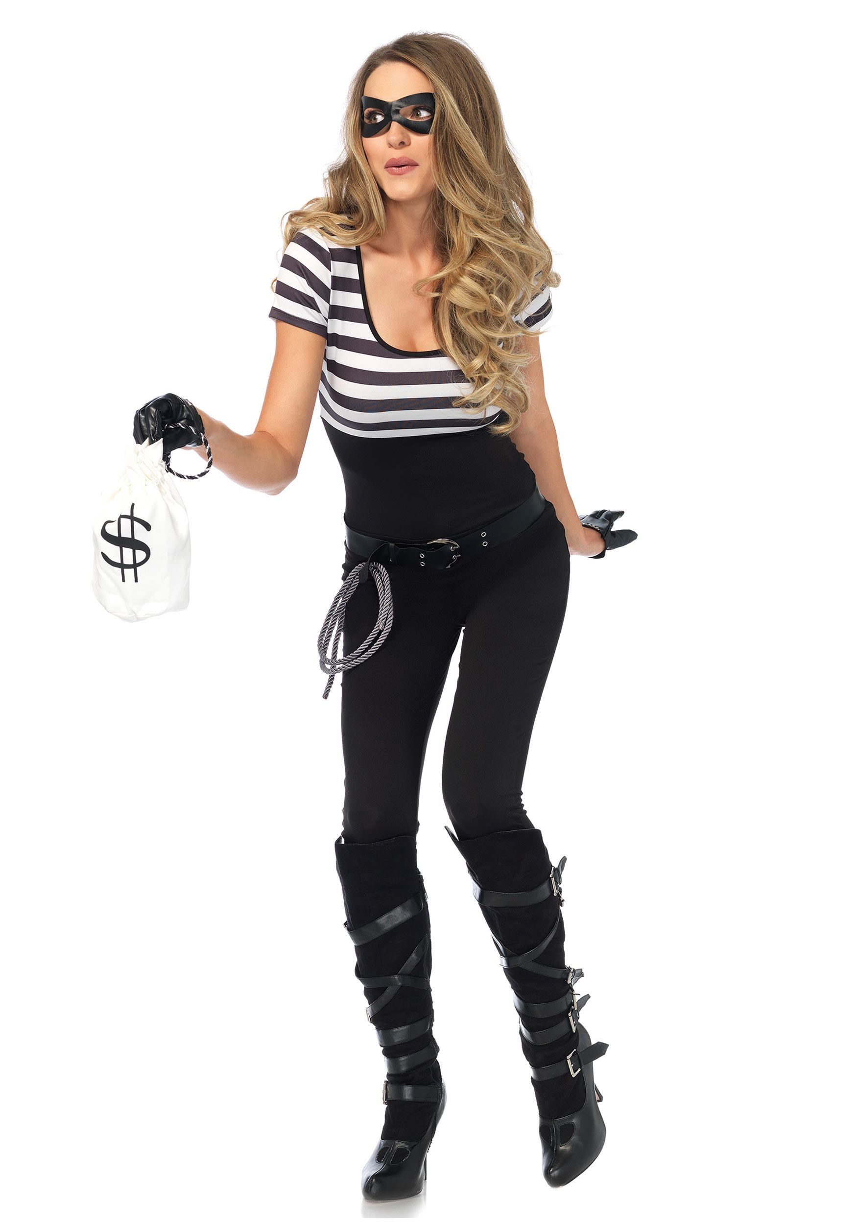 women's bank robbin' bandit costume