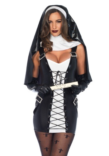 Click Here to buy Womens Naughty Nun Costume from HalloweenCostumes, CDN Funds