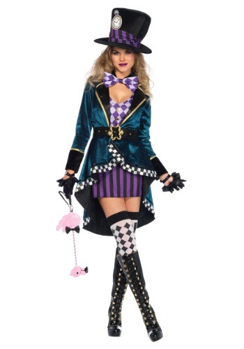 Women's Delightful Hatter Costume