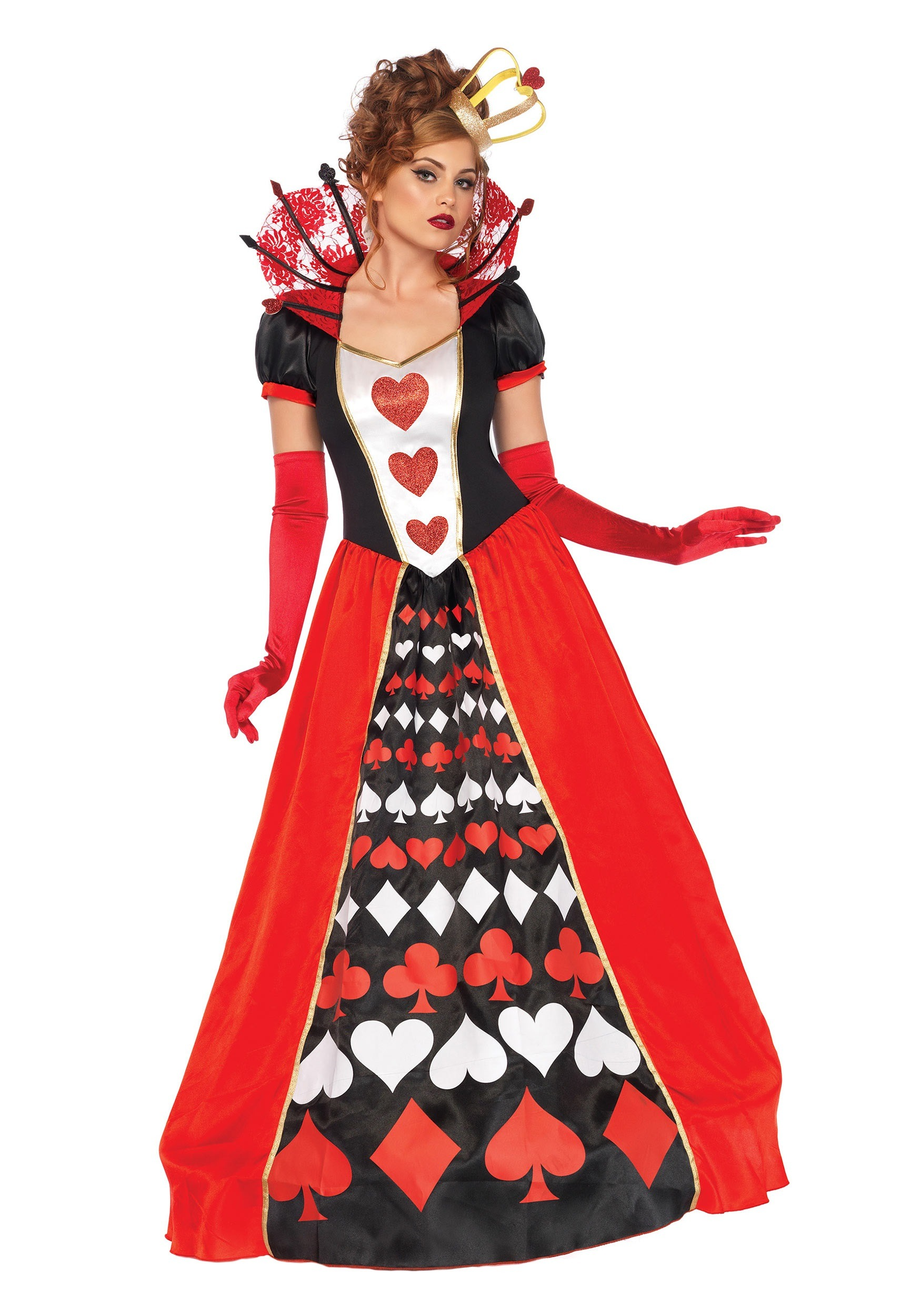 women 39 s deluxe queen of hearts costume. Black Bedroom Furniture Sets. Home Design Ideas
