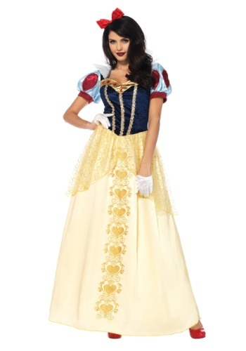 Click Here to buy Womens Deluxe Snow White Costume from HalloweenCostumes, CDN Funds