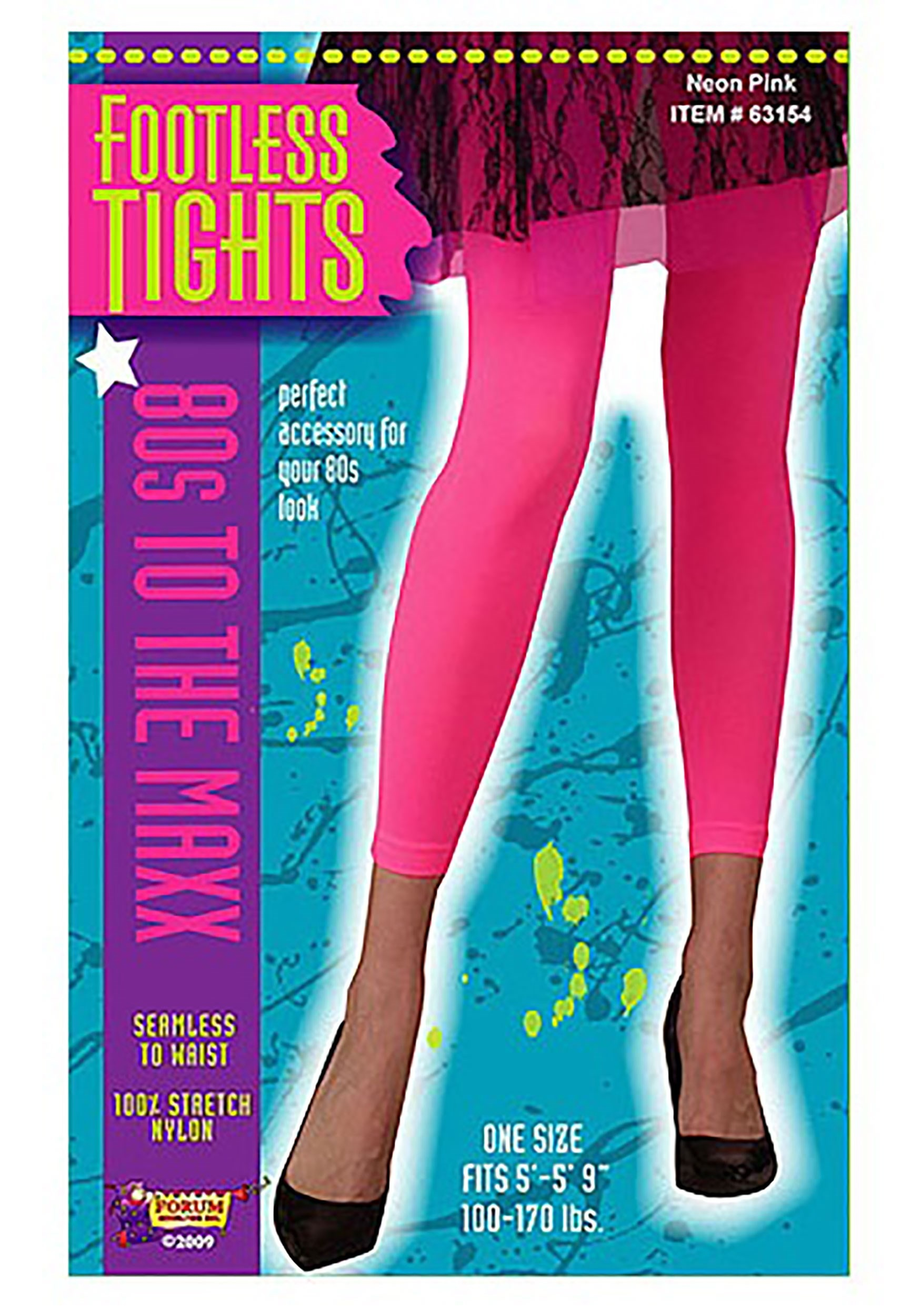Neon Pink Footless Tights