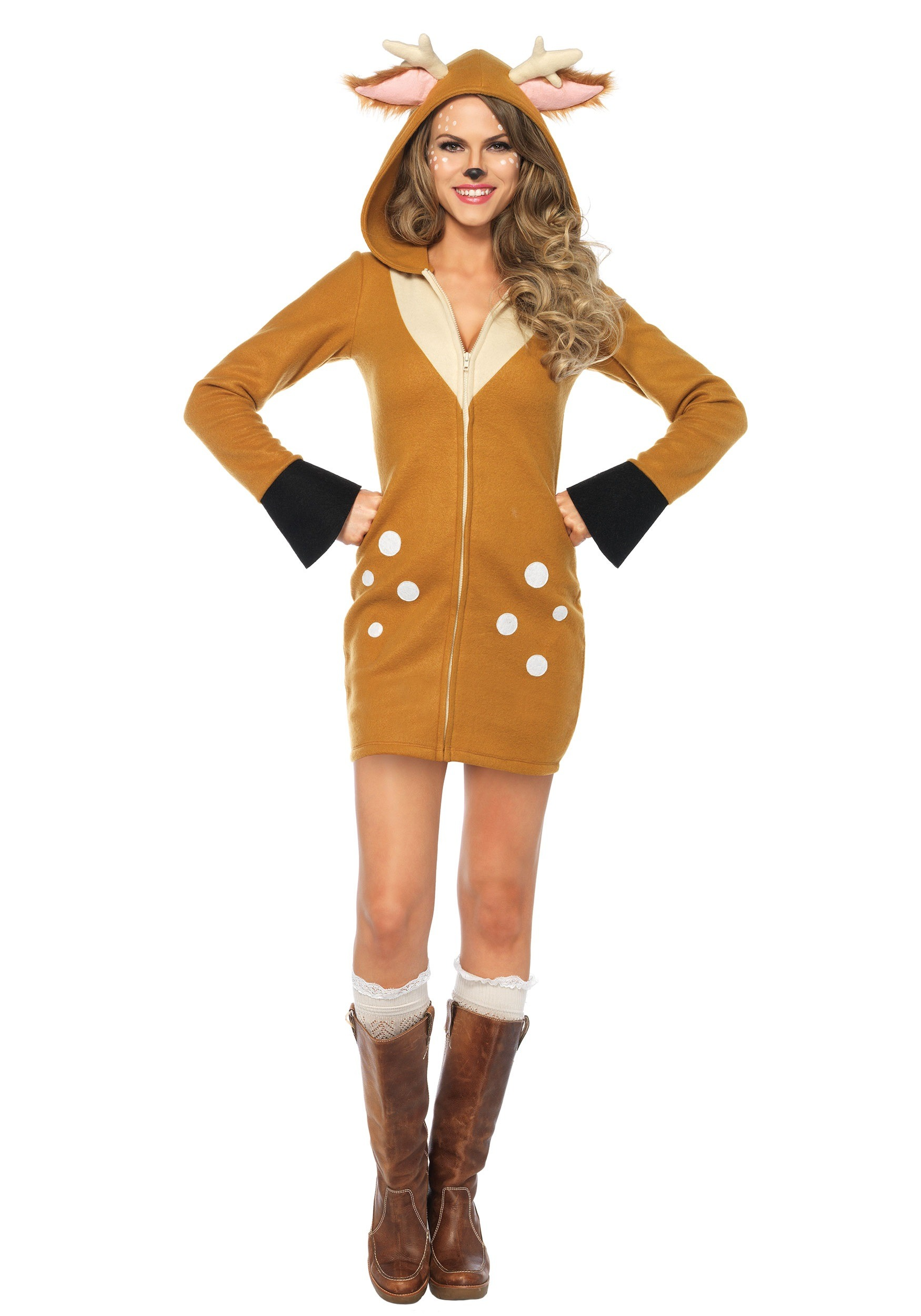 women 39 s cozy fawn costume. Black Bedroom Furniture Sets. Home Design Ideas