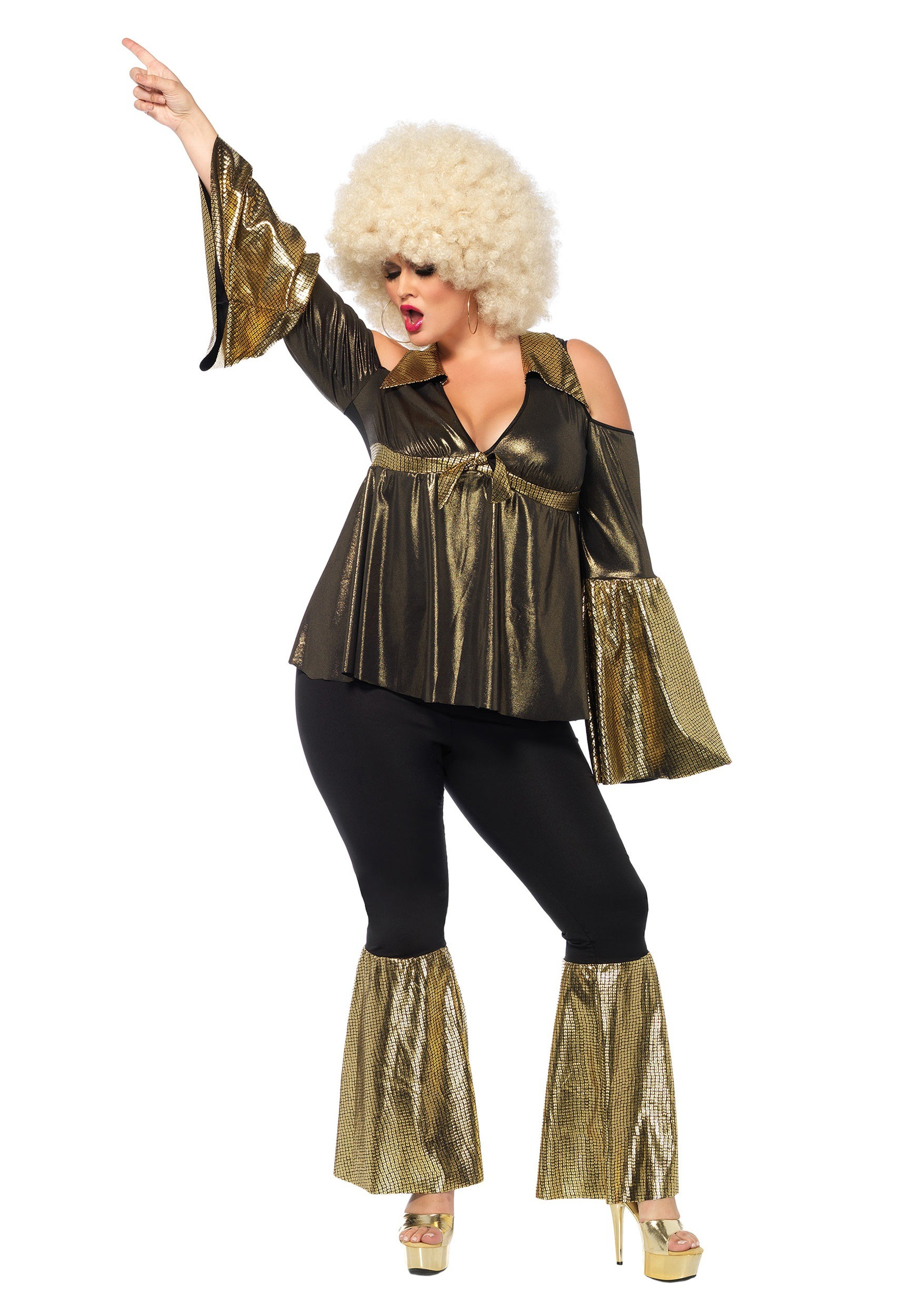 Plus Size Disco Diva Costume  sc 1 st  Halloween Costumes : pocahontas plus size costume  - Germanpascual.Com