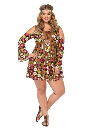 Click Here to buy Plus Size Starflower Hippie Costume 1X/2X 3X/4X from HalloweenCostumes, CDN Funds
