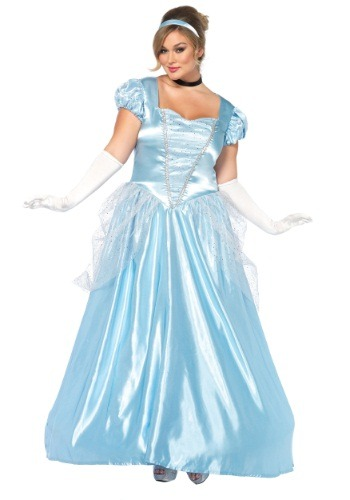 Click Here to buy Plus Size Cinderella Classic Costume from HalloweenCostumes, USA Funds & Shipping