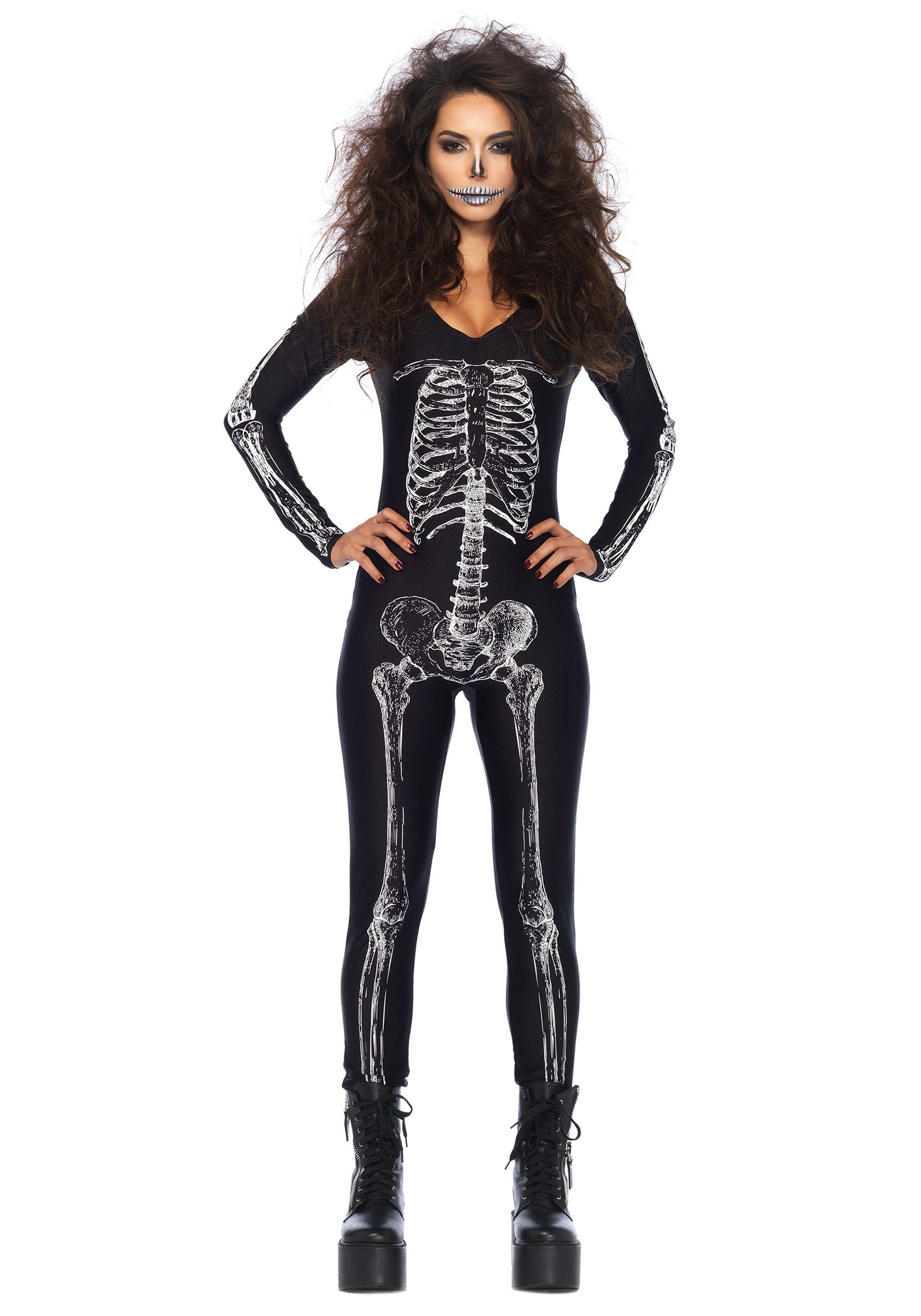 sc 1 st  Halloween Costumes & Womenu0027s X-Ray Skeleton Catsuit
