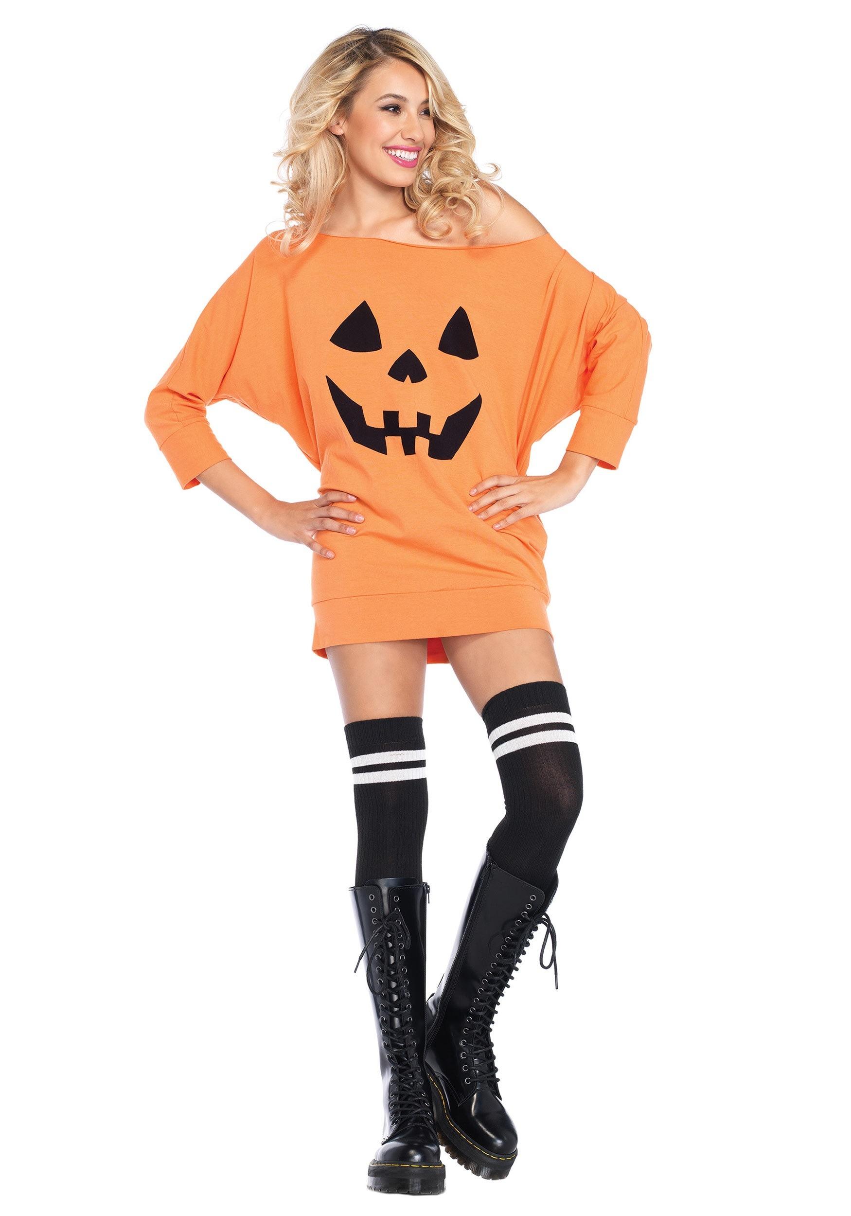 ec4ab2a017d Adult Jersey Pumpkin Dress Costume