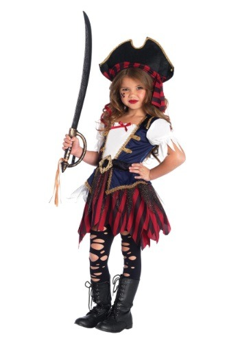 Caribbean Pirate Girls Costume (Girls Costumes)