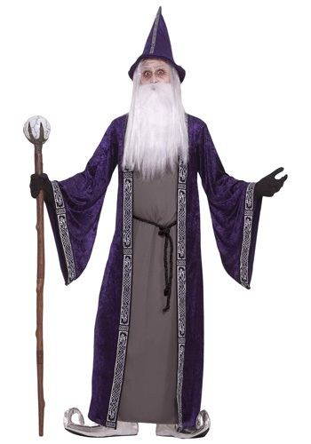 Adult Purple Wizard Costume - Wizard Halloween Costumes