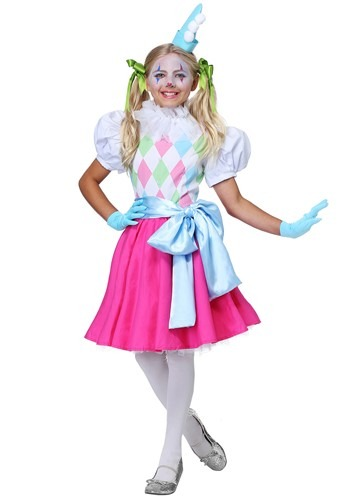 Cotton Candy Clown Costume for Girls