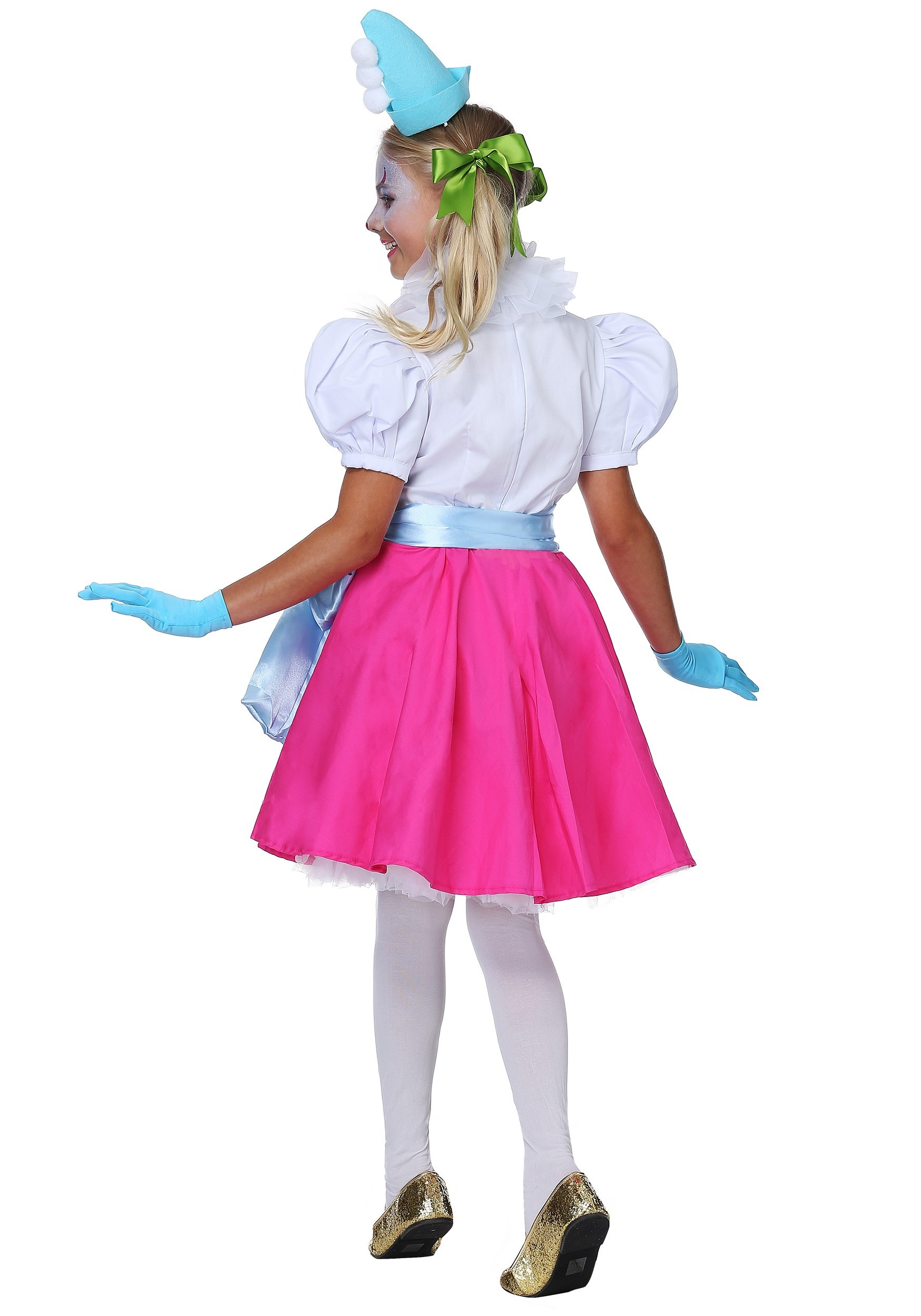 Cotton Candy Clown Women/'s Costume