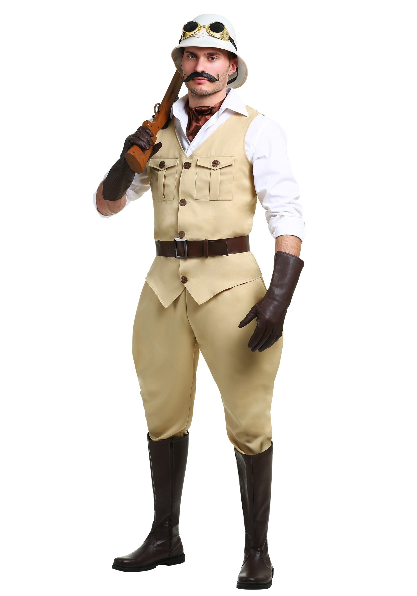Safari Hunter Plus Size Costume for Men 2X