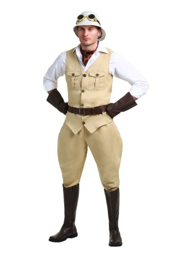 Click Here to buy Safari Hunter Plus Size Mens Costume 2X from HalloweenCostumes, CDN Funds