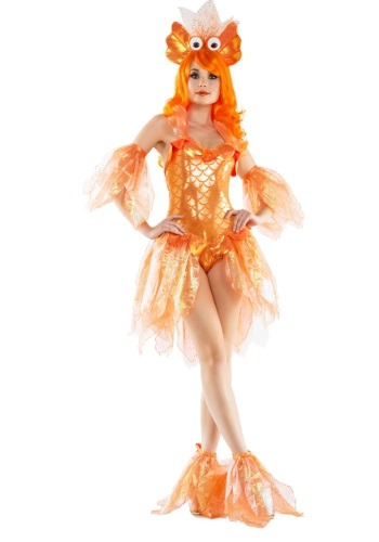 WOMEN'S SEXY GOLDFISH COSTUME - Pretty Edgy Halloween Costumes for Women