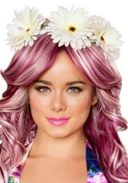 Light Up Daisy Blue Flower Crown