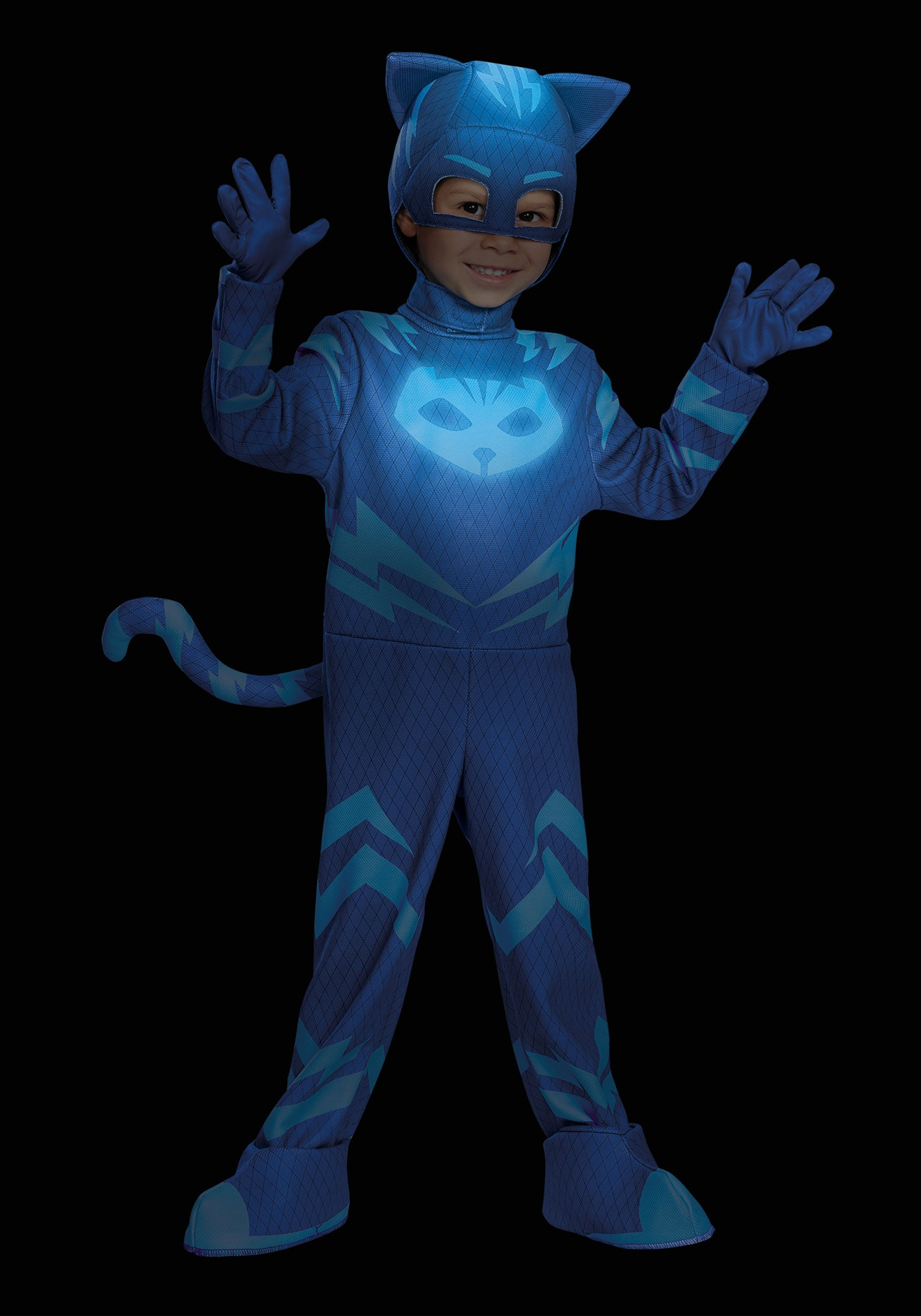 Halloween Decorations Home Made Deluxe Pj Masks Cat Boy Costume