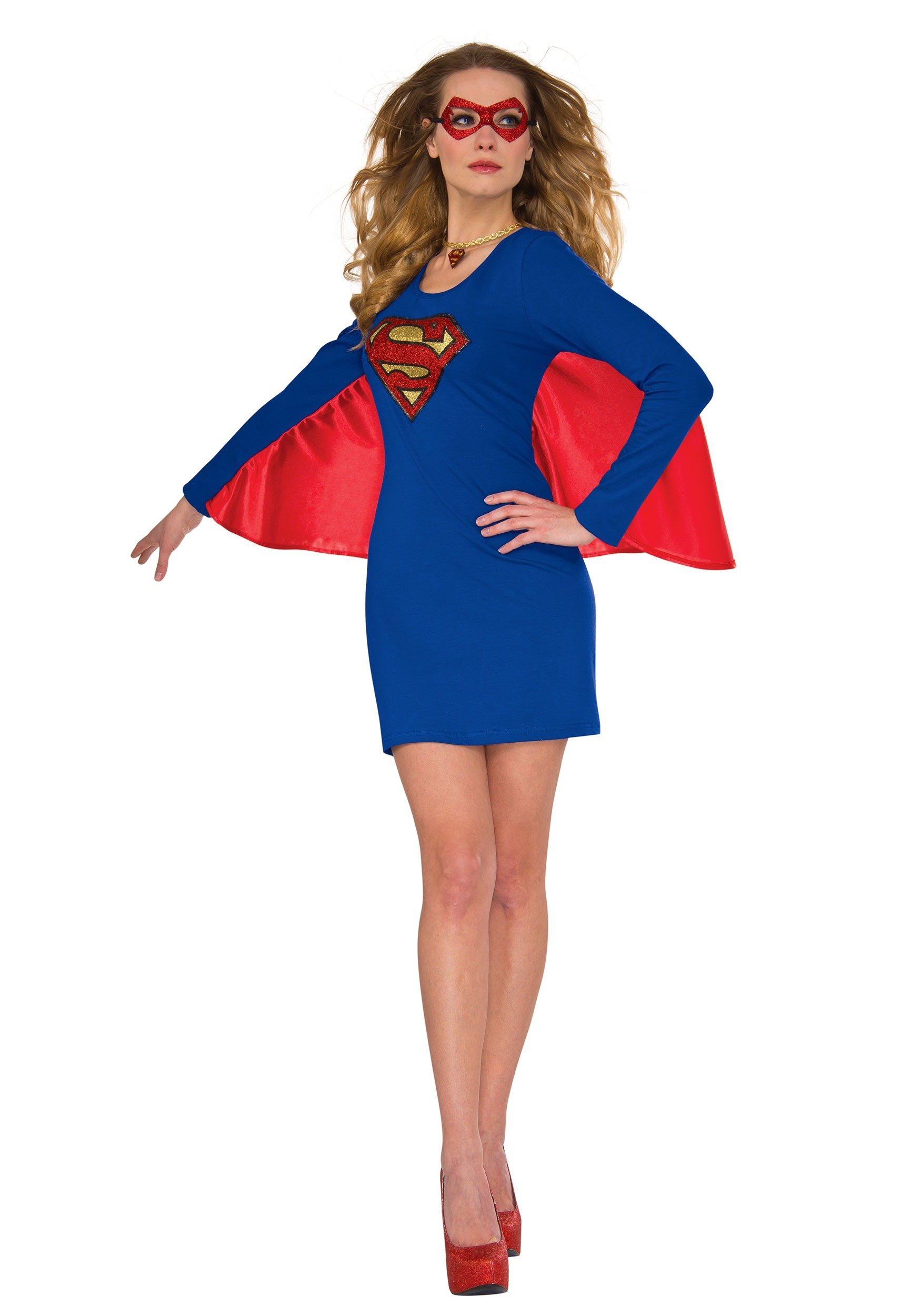 Women Supergirl Cape Dress